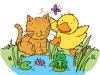 kitten-duckling-illustration